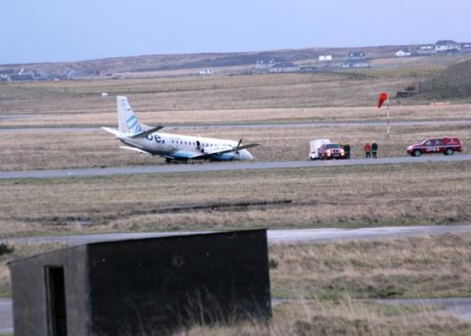 Crashed Stornoway flight this morning.
